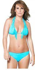 BNWT Coleen Green Turquoise Ladies Bikini Size 14 *** Fringe ***