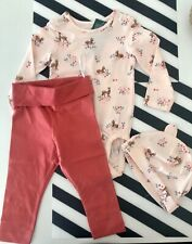 H&M Baby, Fawn Print Baby Girl Set in size 6-9mnths.