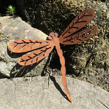 Libelle Gartentiere Edelrost Rost Metalldeko Dekolibelle Astpieker Pfostenpieker