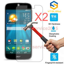 "2Pcs 9H Tempered Glass Screen Protector For 5"" Acer Liquid Jade Z New"