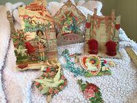 LOT Antique Victorian Diecut CUPID VALENTINES DAY Scraps Vintage Craft Decor