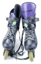 Vintage 1990 Variflex City Heat Inline Skates Roller Blades Black Purple Size 8