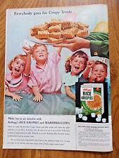 1955 Kellogg's Rice Krispies Ad Everybody goes for Crispy Treats