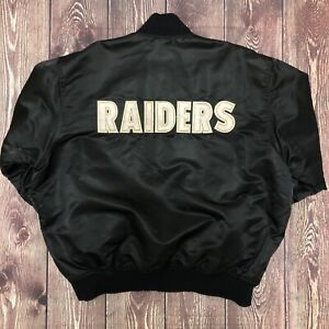 Vintage STARTER NFL Oakland Los Angeles Las Vegas Raiders Satin Jacket XL