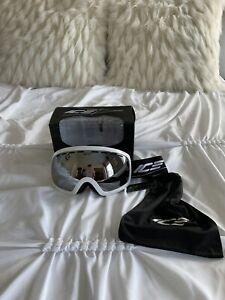 Ice Ski Goggles Unisex White Silver Iridium Ion Lens Snowboard Ski Winter