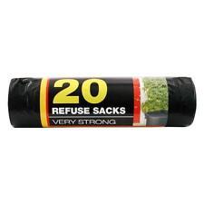 40 x Strong Refuse Bags Black Bin Liners Kitchen Rubbish Waste Garbage Sacks