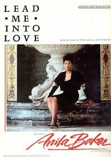 """ANITA BAKER-LEAD ME INTO LOVE"" PIANO/VOCAL SHEET MUSIC-RARE-1988-BRAND NEW-SALE"