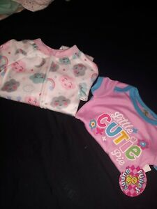 New Infant Girls Size 3/6 Month Sleeper And One Piece