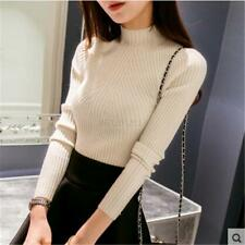 AU Autumn Women Lady Knitted Sweater Long Sleeve Pullover Jumper Sweater Tops