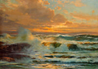 ZOPT355 fancy ocean landscape seascape hand painted oil painting wall art canvas