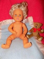 Vintage 1989 Ideal Rub-A-Dub Dolly Baby Doll 16 in Blond Hair Blue Eyes