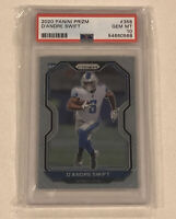 2020 Panini Prizm D'Andre Swift Base Rookie Card RC #358 PSA 10 Lions POP ONE 1!