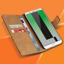 Handyhülle Huawei Mate 10 Lite Schutzhülle Tasche Echte Leder Flip Case Cover