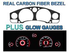 JDM Carbon Bezel + Red Glow Gauge Overlay For 1991-1995 Toyota MR-2 MR2 SW20