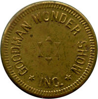 Goodman Wonder Show Inc. Little Rock, Arkansas AR 5¢ Trade Token
