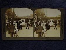 1904 Train Wreck WABASH RAILROAD Litchfield,IL HORSE AMBULANCE Stereoview Photo