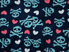 Adult Baby Footed Pajamas Skull & Heart Size XL NWT NEW Pink & Blue Fleece