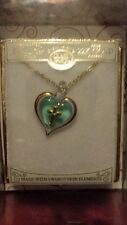 "GLASS BARON TURQUOISE HEART WITH CROSS 18""CHAIN"