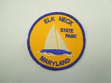 Vintage Elk Neck State Park in Maryland Sailboat Img Iron On Patch