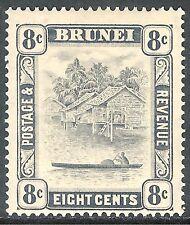 Brunei 1924 grey-black 8c mint SG72