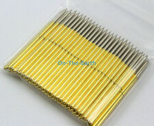 100 Pieces P100-B1 Dia 1.36mm Length 33.35mm Spring Test Probe Pogo Pin