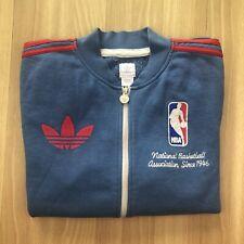 Vtg ADIDAS NBA National Basketball Association Since 1946 Full Zip Hoodie Mens L