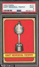 1972 Topps Hockey #171 Hart Memorial Trophy PSA 9 MINT