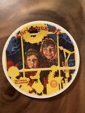 The Toy Shop Window by Norman Rockwell Christmas 1977 collector plate