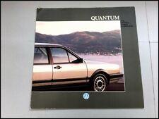 1988 Vw Volkswagen Quantum Original Car Sales Brochure Catalog