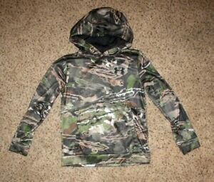 UNDER ARMOUR size Youth Medium Hooded sweatshirt. YMD Camouflage Logo Boys