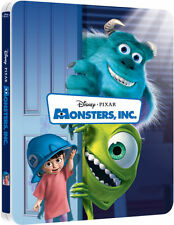 Monsters Inc. 3D Limited Edition Steelbook Blu-ray 3D/2D UK Exclusive NEW SEALED
