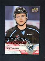 2018-19 UD Upper Deck CHL Star Rookies Exclusives #372 Connor McClennon /100
