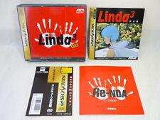 Sega Saturn LINDA 3 CUBE KANZEN BAN with SPINE CARD * Import JAPAN Game ss