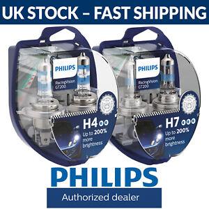 Philips RacingVision GT200 Racing Vision H4 H7 Car Headlight Bulbs Fittings