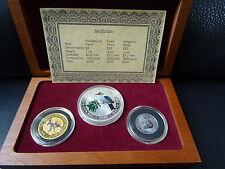 Australia 2000 Coin Set Gold Silber Platin Muenze Kookaburra Koala Kangaroo