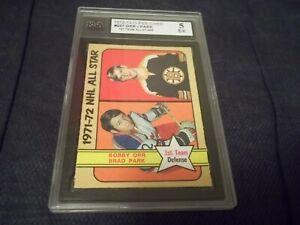 1972-73 OPC O-Pee-Chee #227 Bobby Orr Brad Park - KSA 5 EX - UNDERGRADED