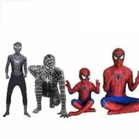 Spiderman Suit Superhero Cosplay Costume Kids Adults Fancy Dress Outfit Cosplay