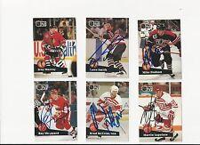 91/92 Pro Set Autographed Hockey Card Troy Murray Chicago Blackhawks