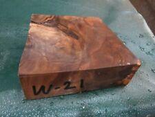 WB-WALNUT BURL DELUXE  KNIFE BLOCK/SCALES/ CALLS/ PEN BLANKS--W--21