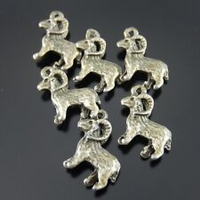 60 pcs New Atq Bronze Style Alloy Cute Goat Charms Craft Accessories 15x10mm