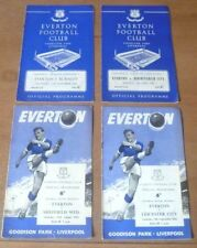 Away Teams C-E Everton Written - on Football Programmes
