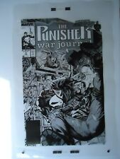Lg '89 MARVEL PUNISHER WAR JOURNAL # 3 CARL POTTS & JIM LEE COVER PRODUCTION ART