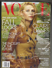 CLAIRE DANES Vogue Magazine 8/13 AUGUST 2013 CYNDI LAUPER LINDSEY VONN SEALED