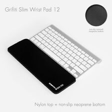 Grifiti Slim Wrist Pad 12 Apple Wireless and Slim Keyboards Black Nylon Surface