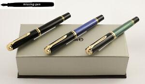 Pelikan M800 Fountain Pen Black, Black-Green or Blue-Black (EF, F, M, B, BB, IB)