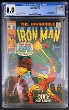 Iron Man #22 CGC 8.0  2/70 3758589022 - Crimson Dynamo & Titanium Man appearance