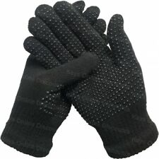 Mens Ladies Gloves 12 Pairs Black Magic Rubber Palm Grips Gripper Winter Warm