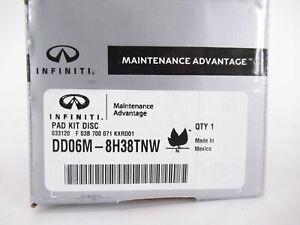 Genuine OEM Infiniti DD06M-8H38TNW Rear Disc Brake Pad Kit