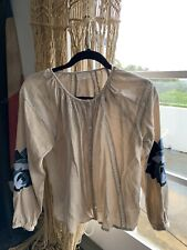 Tuchinda New York Embroidered Lace Blouse. Sz14. As New.100%cotton. Paid$180.