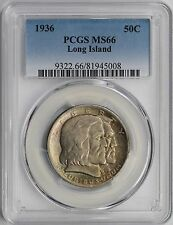 1936 Long Island 50C PCGS MS 66 Early Silver Commemorative Half Dollar